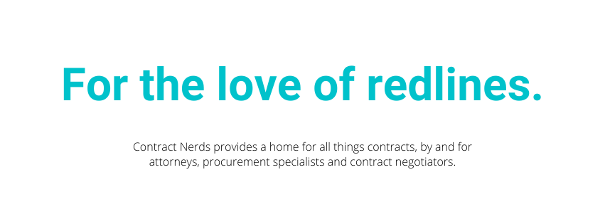 Contract Nerds - for the love of redlines.