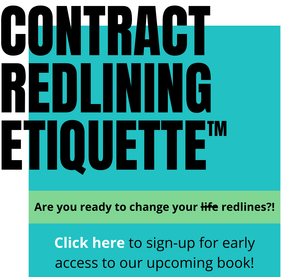 Contract Redlining Etiquette book early access sign-up form